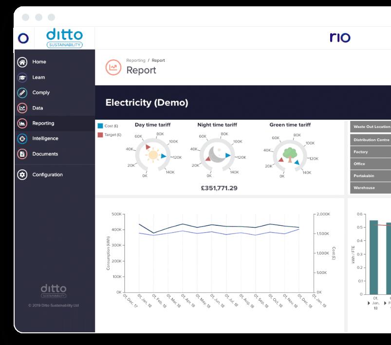 Rio platform report screen